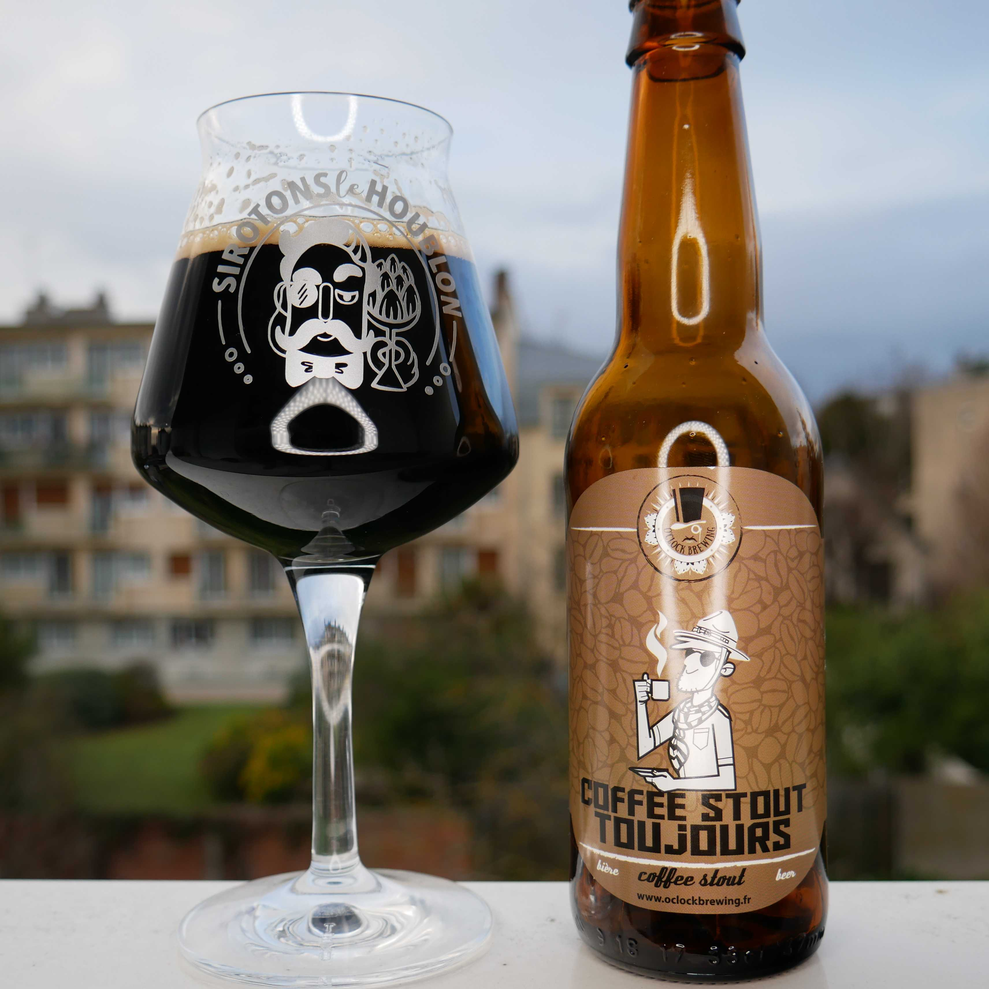 Bière Coffee Stout Toujours - Brasserie O'Clock Brewing (France)